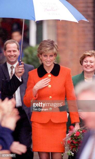 Princess Diana Visiting The English National Ballet School In South West London