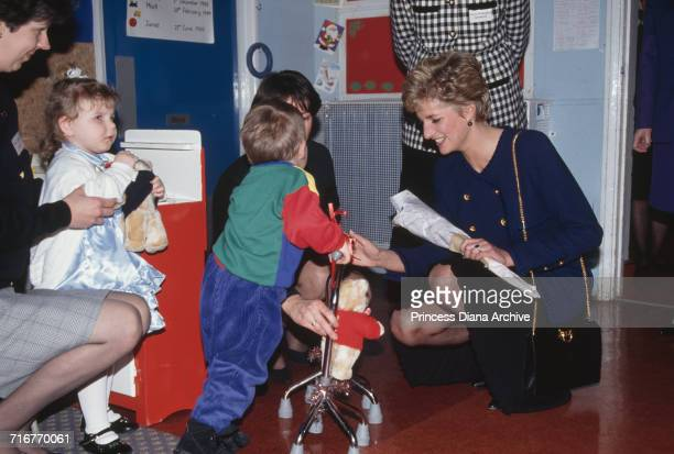 Princess Diana visiting Woodlawn special needs school in Tyne and Wear on the day her separation from Prince Charles was announced December 1992 She...
