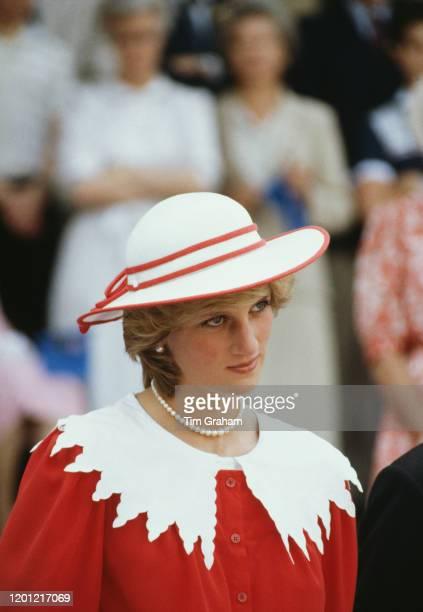 Princess Diana visits Edmonton during the royal tour of Canada, 29th June 1983.