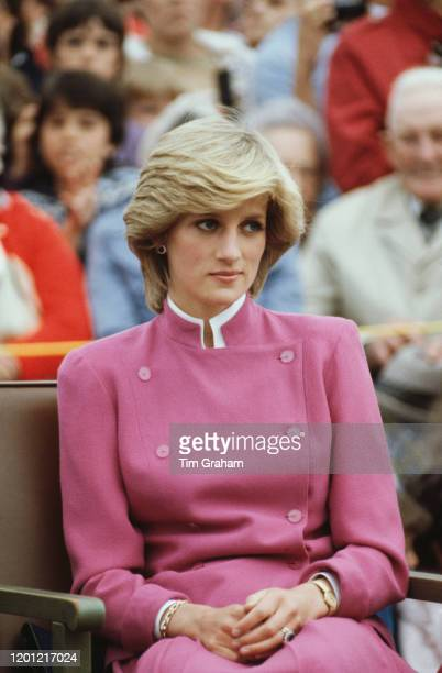 Princess Diana visits Montague on Prince Edward Island, during the royal tour of Canada, 27th June 1983.