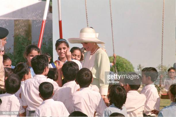 Princess Diana visits Pakistan in September 1991 Princess Diana is pictured at Islamabad Airport at the start of her tour Picture taken 23rd...