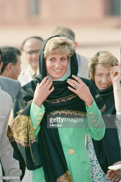 Princess Diana visits Pakistan in September 1991 Princess Diana is pictured during a visit to the Badshahi Mosque in Lahore Picture taken 25th...