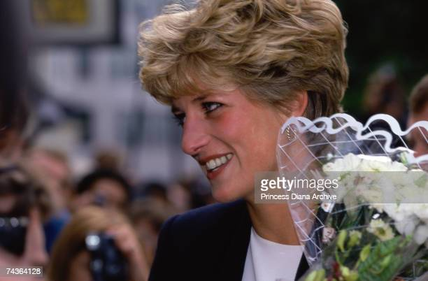 Princess Diana visits the 'Connection' project for the homeless September 1992
