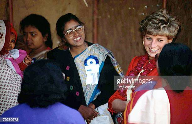 Princess Diana visits the Marie Stopes Clinic in Agra India