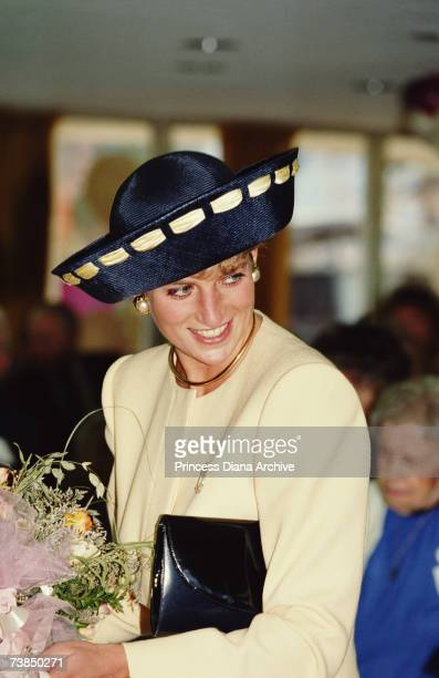 Princess Diana visits the Rideaucrest Old Folks Home in Kingston Canada 28th October 1991