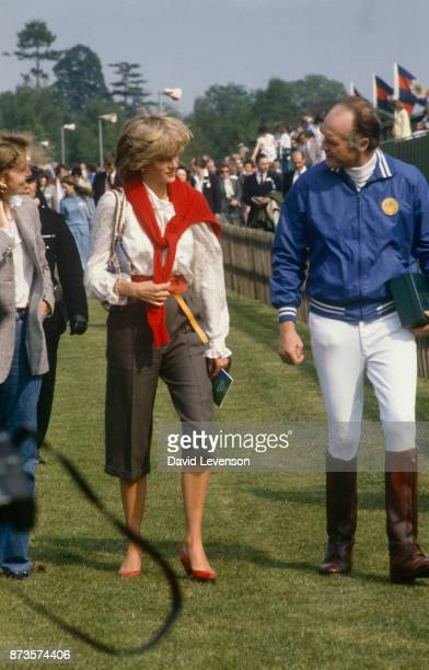 Princess Diana watches polo at Smiths Lawn Windsor on May 25 1983