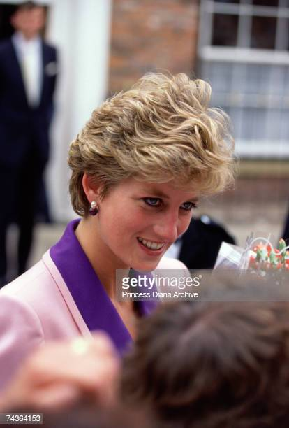Princess Diana wearing a Catherine Walker suit on a visit to Hull and Humberside 24th June 1992