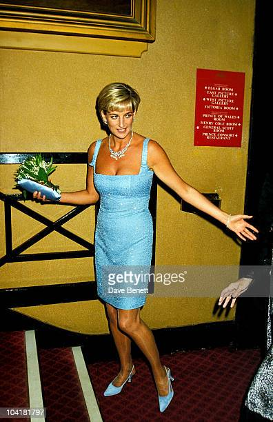 Princess Diana Wearing A 'Jacques Azagury' Dress To The 'Swan Lake' English Ballet Performance Royal Albert Hall London Princessdianaretro