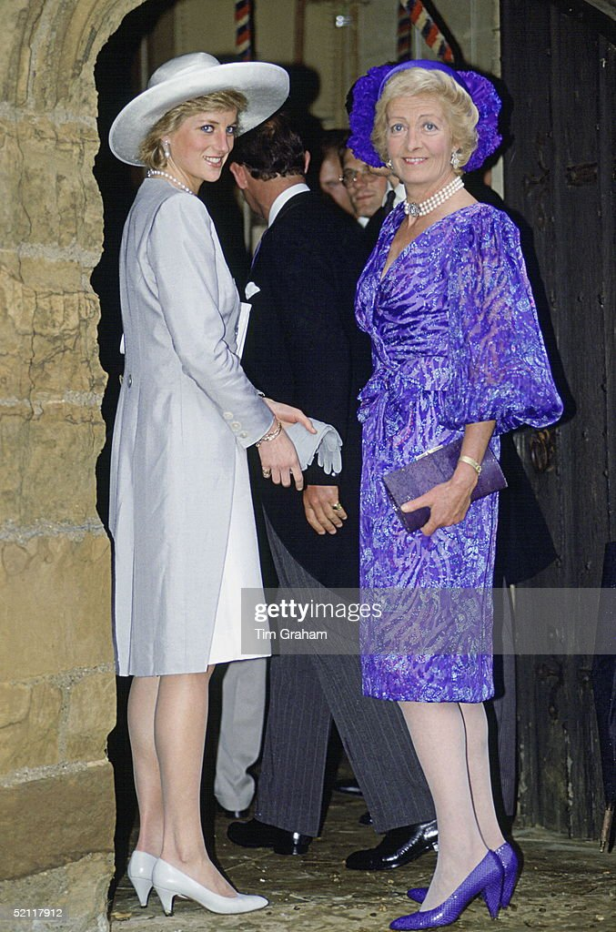 Diana And Mother In Althorp : News Photo