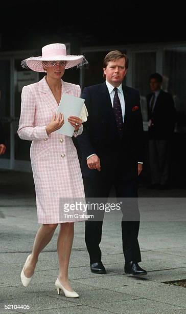 Princess Diana With Her Police Bodyguard Ken Wharfe During A Visit To Munster Germany
