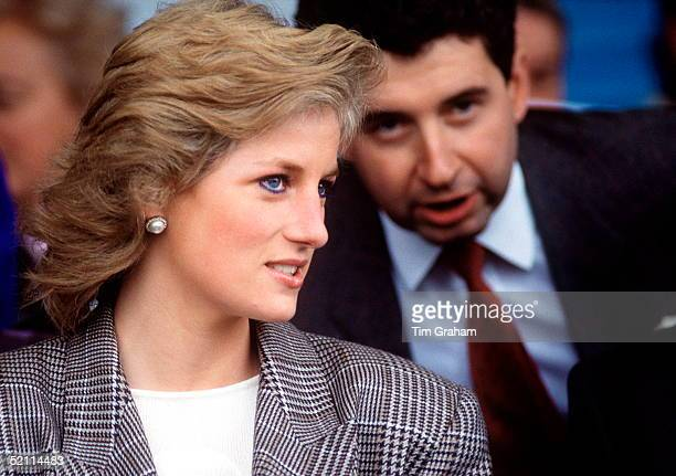 Princess Diana With Her Private Secretary Patrick Jephson At The Burghley Horse Trials Stamford Lincolnshire