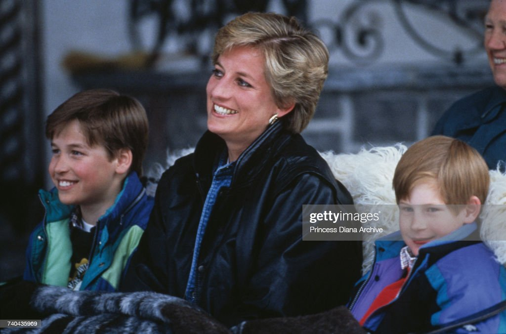 Diana On Holiday With Sons : News Photo