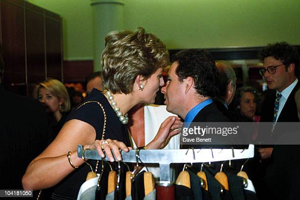 Princess Diana With Lord Linley At The Alfred Dunhill Cigar Shop Promotion In Mayfair 05 1994