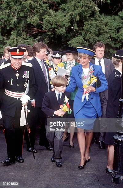 Princess Diana With Prince William In Wales On St David's Day