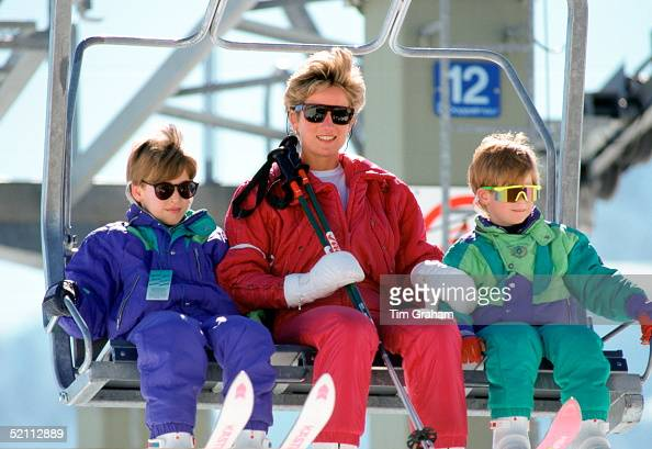 Lech News: Princess Diana With Princes William & Harry Skiing In Lech