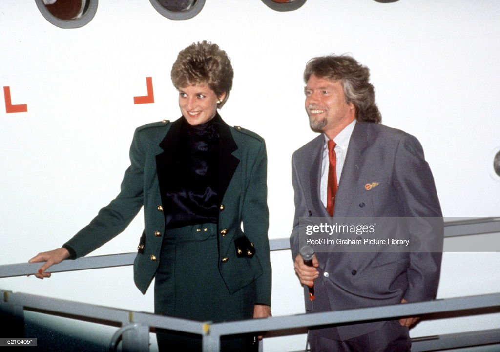 Diana And Richard Branson : News Photo