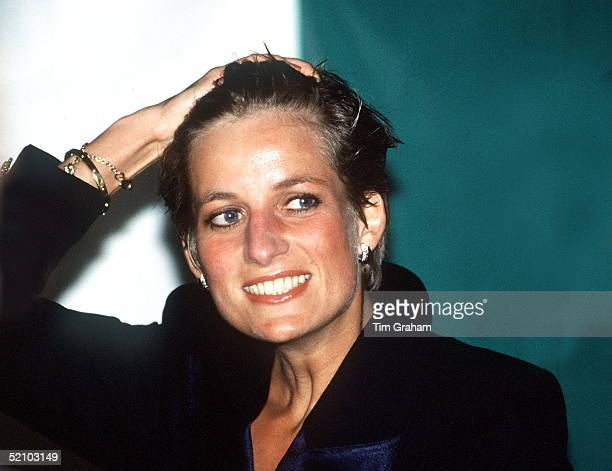 Princess Diana With Wet Hair At A Concert In Hyde Park