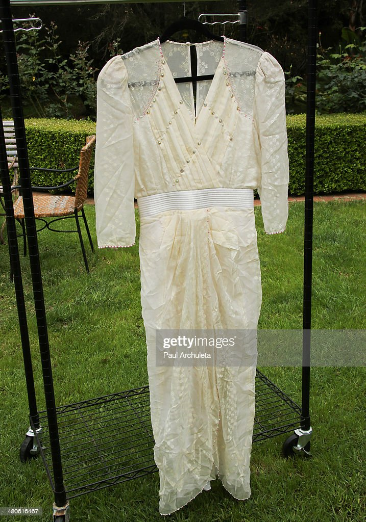 Princess Diana's dress to be auctioned off by Nate D. Sanders Auctions is seen on March 25, 2014 in Los Angeles, California.