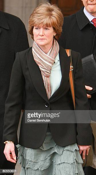 Princess Diana's sister Lady Sarah McCorquodale departs from the high court on April 7 2008 in London England The jury concluded that Diana Princess...