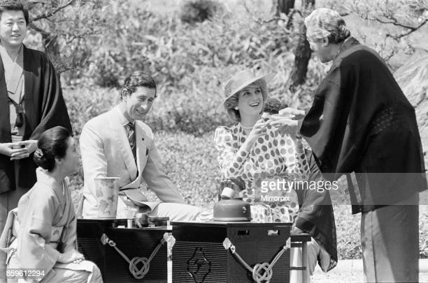 Princess DianaThe Princess of Wales and Prince Charles at a traditional tea ceremony In other frames in this setThe Princess is pictured with city...