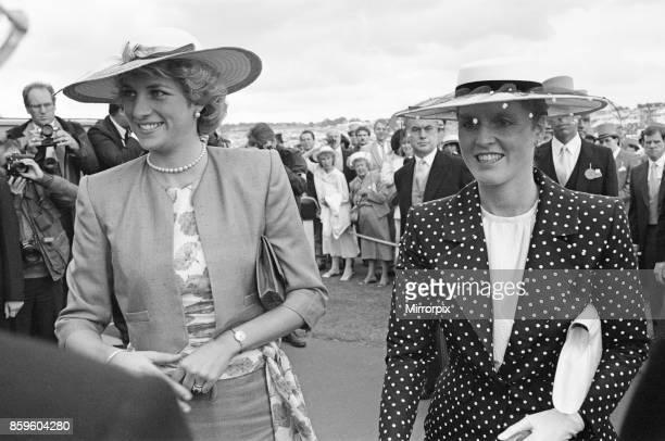 Princess DianaThe Princess of Wales and The Duchess of York Sarah Ferguson enjoy the day at The Epsom Derby Epsom Surrey England 3rd June 1987
