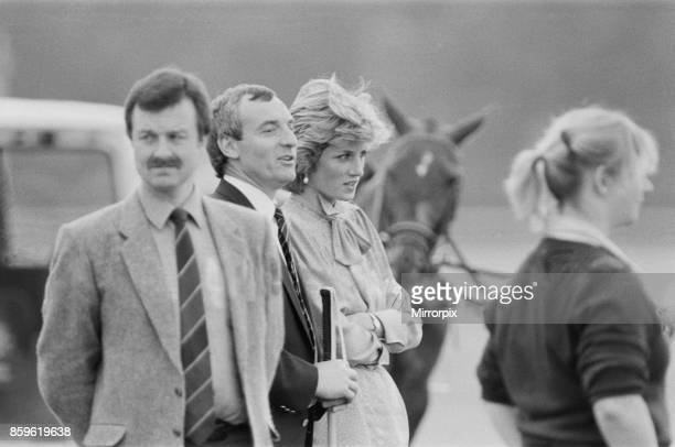 Princess DianaThe Princess of Wales at Guards Polo at Windsor Berkshire Seen standing next toThe Princess to her actual right is Barry Mannakee...
