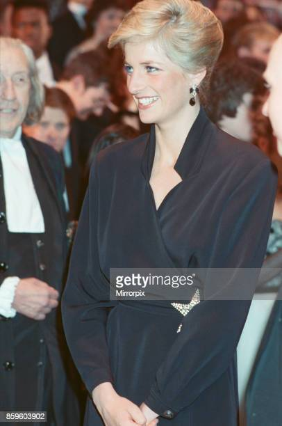 Princess DianaThe Princess of Wales attends The Laurence Olivier Awards at The Dominion Theatre in London 29th January 1989