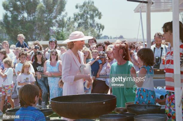 Princess DianaThe Princess of Wales during her tour of Australia in 1988 The Princess is pictured at Footscray Park in Melbourne Victoria wearing an...