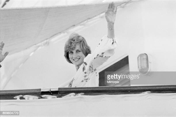 Princess Diana,The Princess of Wales in Gibraltar for her Honeymoon with her husband Prince Charles,The Princess of Wales, 1st August 1981.