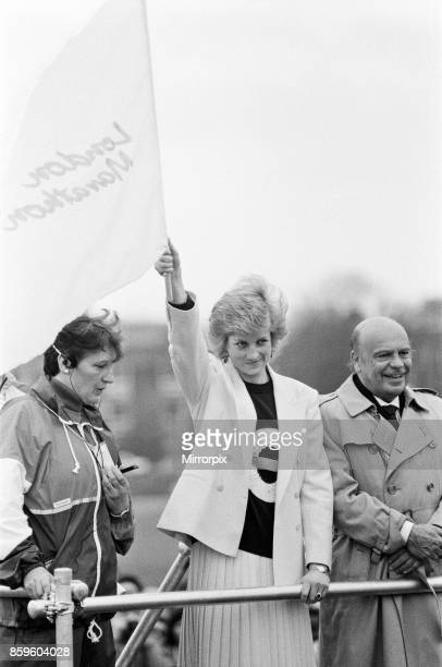 Princess DianaThe Princess of Wales launches the start of the 1988 London Marathon at Blackheath near Greenwich London 17th April 1988