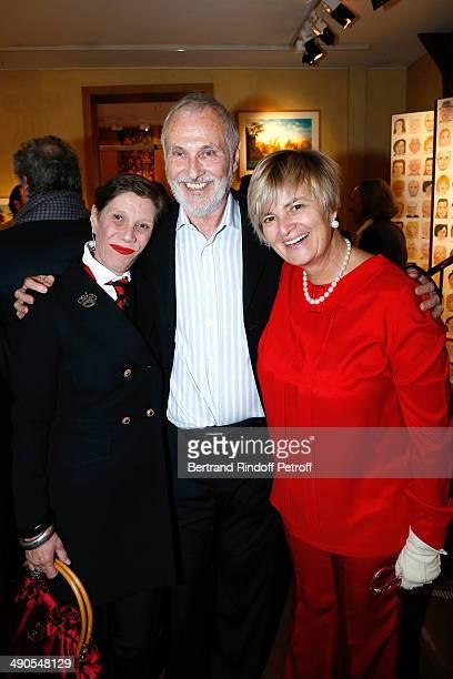 Princess Diane de Beauvau Craon Contemporary Artist Philippe Morillon and Princess Gloria von Thurn und Taxis attend the 'Voila Cherie' Gloria von...