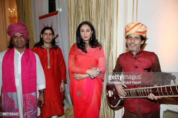 Princess Diya Kumari of Jaipur poses with the Orchestra during the Charity Gala to Benefit the 'Princess Diya Kumari of Jaipur' Foundation Held at...