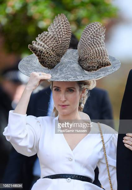Princess Ekaterina of Hanover attends the wedding of Princess Eugenie of York and Jack Brooksbank at St George's Chapel in Windsor Castle on October...