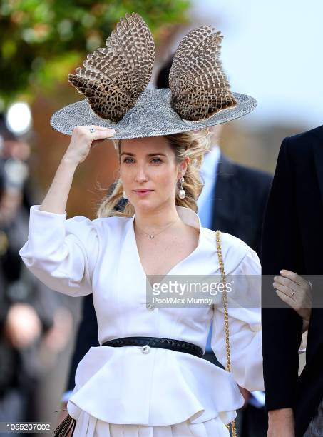 Princess Ekaterina of Hanover attends the wedding of Princess Eugenie of York and Jack Brooksbank at St George's Chapel on October 12 2018 in Windsor...