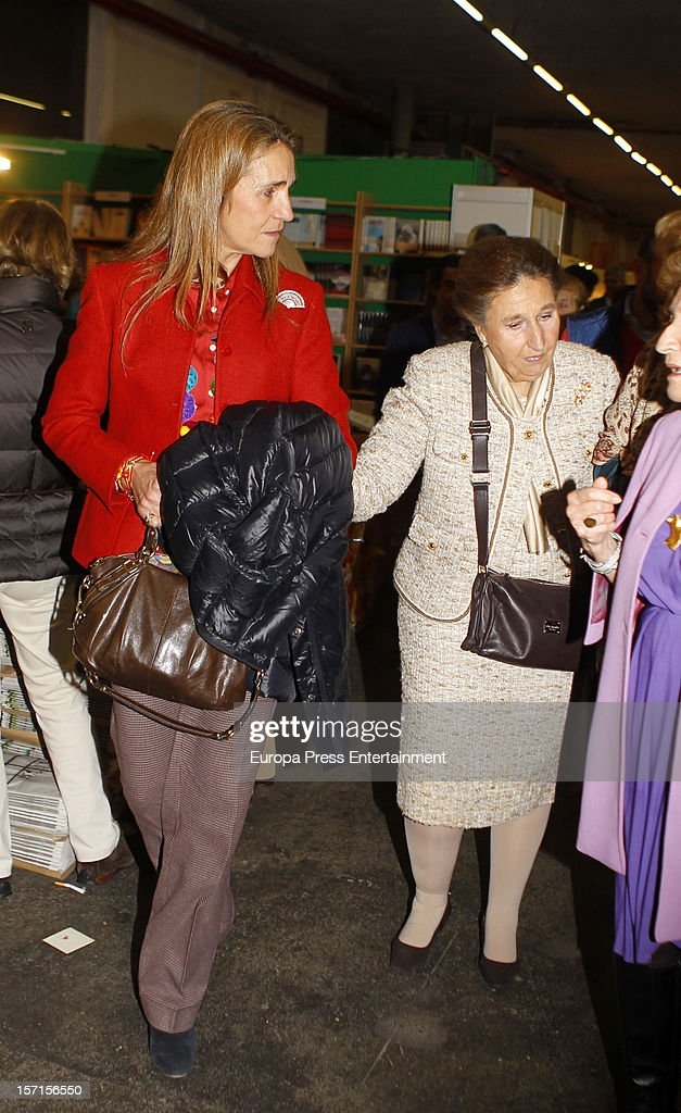 Princess Elena and her aunt Princess Margarita attend Rastrillo 'Nuevo Futuro' at Pipa paviliono on November 26, 2012 in Madrid, Spain.