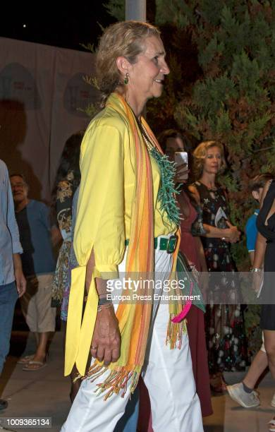 Princess Elena attends Ara Malikian's concert at Port Adriano on August 1 2018 in Palma de Mallorca Spain