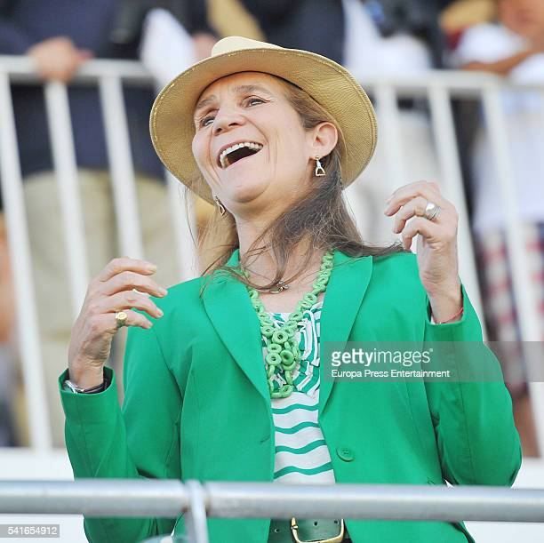 Princess Elena attends Longines Global Champions Tour on June 19 2016 in Madrid Spain