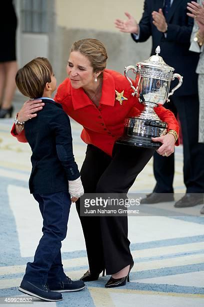 Princess Elena attends National Sport Awards 2013 at Royal Palace of El Pardo on December 4 2014 in Madrid Spain