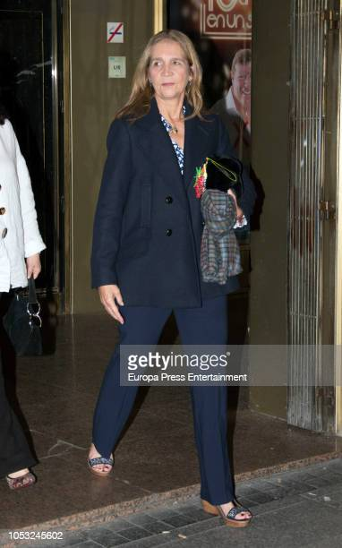 Princess Elena attends 'The Physician' , the musical based on Noah Gordon novel, on October 24, 2018 in Madrid, Spain.