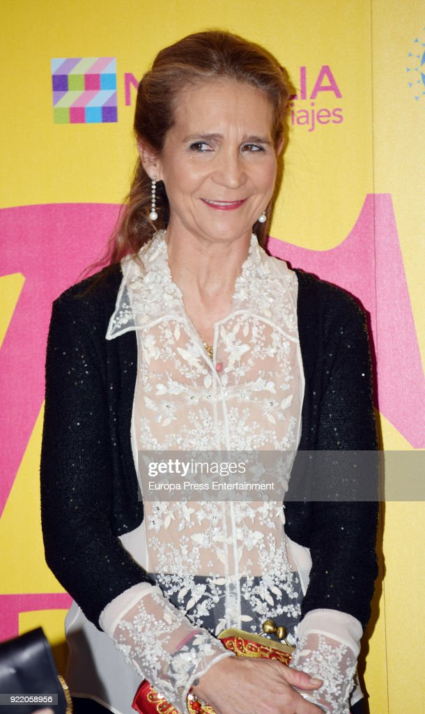 Princess Elena attends the 'Premio Taurino ABC' awards at the ABC Library on February 20, 2018 in Madrid, Spain.