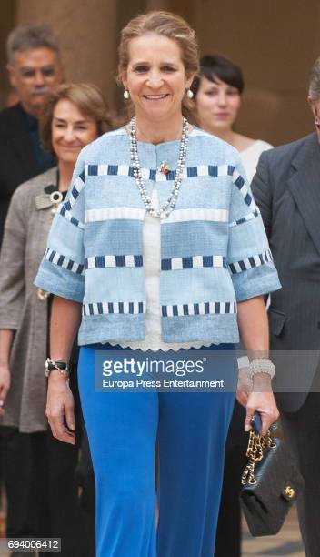 Princess Elena attends XXV Children and Youth Painting Contest at El Pardo Palace on June 8 2017 in Madrid Spain