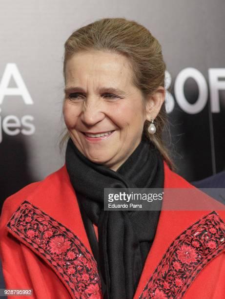 Princess Elena de Borbon attends the 'San Isidro 2018' Bullfights Fair presentation at Las Ventas bullring on March 7 2018 in Madrid Spain at Las...
