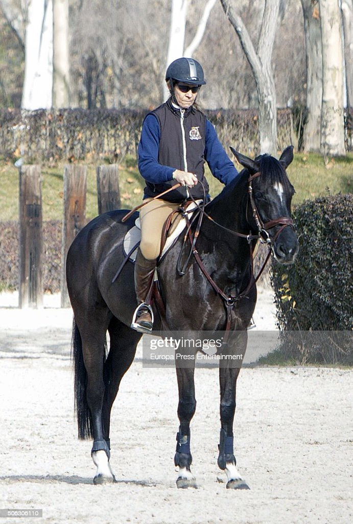 Princess Elena is seen the day of her 52th birthday on December 20, 2015 in Madrid, Spain.