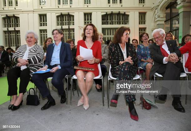 Princess Elena Marta Higueras Pina Sanchez Errazuriz Ana Botella and Padre Angel attend the 50th Anniversary of Rastrillo Nuevo Futuro Foundation on...