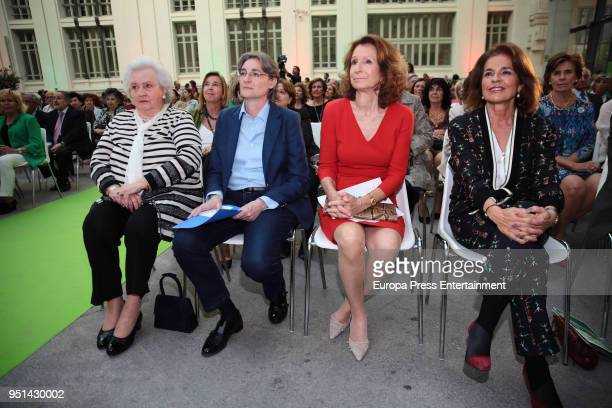 Princess Elena Marta Higueras Pina Sanchez Errazuriz and Ana Botella attend the 50th Anniversary of Rastrillo Nuevo Futuro Foundation on April 25...
