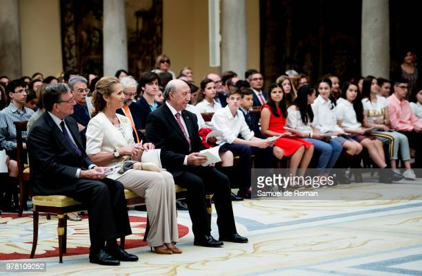 Princess Elena of Spain Alfredo Perez de Arminan and Jose Maria Perez attend XXV Children and Youth Painting Contest at El Pardo Palace on June 18...
