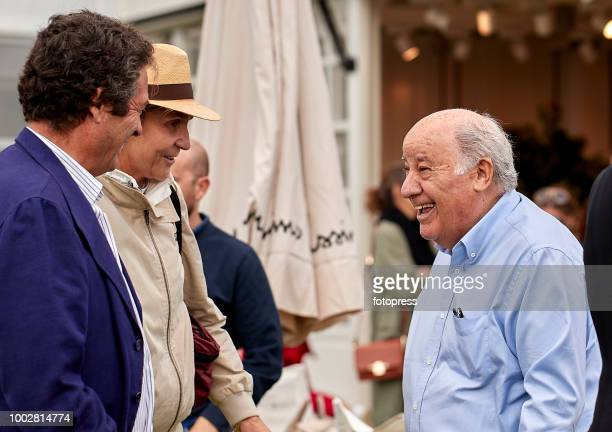 Princess Elena of Spain and Amancio Ortega attend during CSI Casas Novas Horse Jumping Competition on July 20 2018 in A Coruna Spain