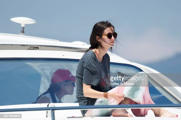 Princess Elena of Spain and her daugther Victoria Federica Marichalar Borbon on board of the Somni during the 37th Copa del Rey Mapfre Sailing Cup on...