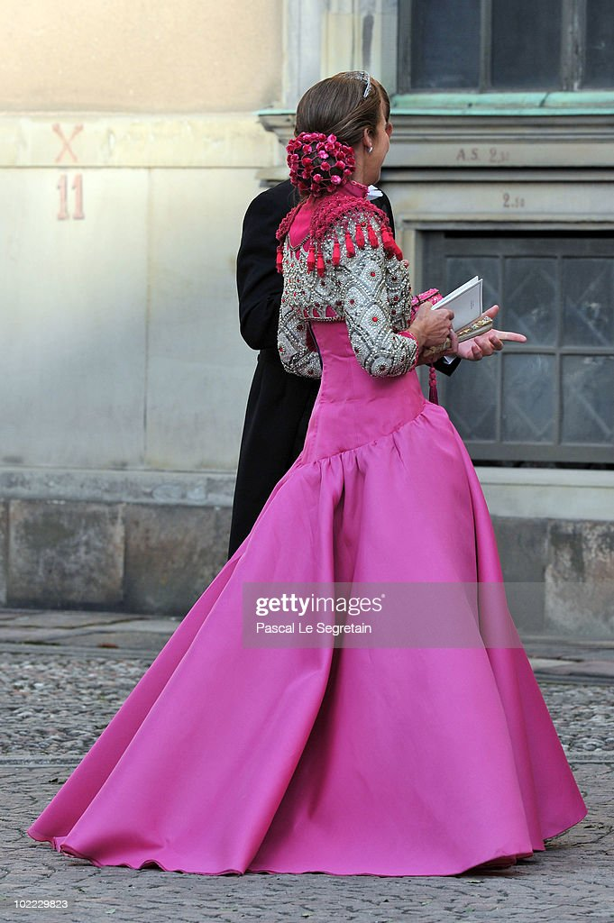 Princess Elena of Spain arrives to attend the Wedding Banquet for Crown Princess Victoria of Sweden and her husband prince Daniel at the Royal Palace on June 19, 2010 in Stockholm, Sweden.