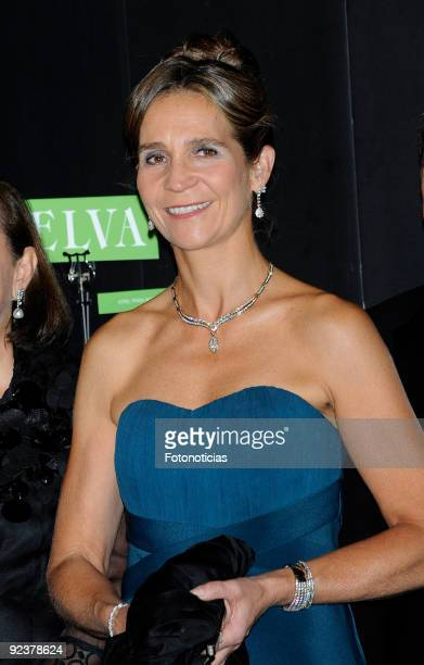Princess Elena of Spain arrives to the 2009 Telva Magazine Fashion Awards ceremony held at the Teatro del Canal on October 26 2009 in Madrid Spain